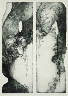 Etching by Yukie Nakano
