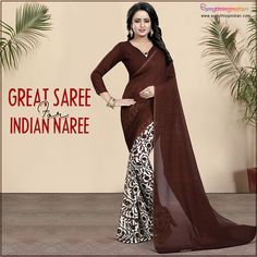 Brown Sarees online collection at best price. Checkout variety of Brown Sarees for colors, Fabric, styles with express delivery. #eanythingindian #beindian #buyindian #ethnic #saree #brownsaree #sareeoftheday Online Collections, Printed Sarees, Sarees Online, Ethnic, Delivery, Indian, Formal Dresses, Brown, Colors