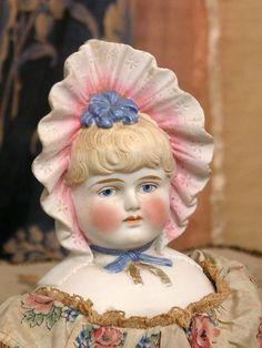 antique parian fancy with bonnet