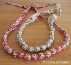 Collier en tissu wax et son tuto (DIY - Fashion Bolts Fabric Necklace, Fabric Jewelry, Diy Necklace, Crochet Necklace, Necklaces, Coin Couture, Diy Jewelry Holder, Diy Jewelry Making, Dainty Jewelry