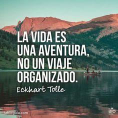 La vida es una aventura.