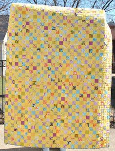 """POSTAGE STAMP QUILT.................PC................Wow! 1,200 2"""" squares"""
