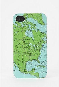 UrbanOutfitters.com > Fun Stuff Map Phone Case $16