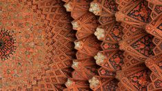 Ceiling of the entrance to Gheytarie Bazar in Isfahan, Iran