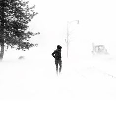 are we in the clear yet?  01.23.2016  #stormjonas #winter #snow #blizzard #photography #blackandwhite #intothestorm #snowzilla #눈 #눈보라 #날씨 by jung.theo.lee