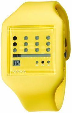 Nooka Unisex ZUB-ZOT-YL-20 Zub Zot Yellow Polyurethane Watch NOOKA. Save 24 Off!. $99.00