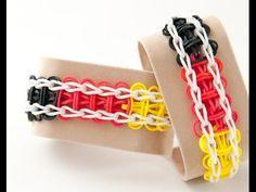 Wie erstelle ich ein Rainbow Loom Leiter Armband | Rainbow Loom Anleitungen