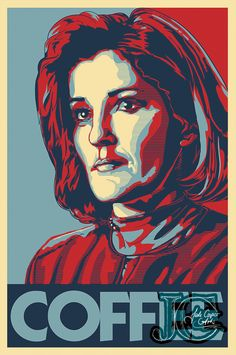 Captain Janeway - finally finished! :)  http://www.redbubble.com/people/jade-cooper-art/works/14199464-coffee-addicted