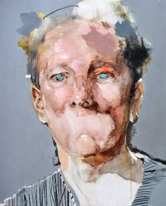 "Saatchi Art Artist Michał Janowski; Painting, ""Light Blue Iris"" #art"