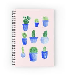 A personal favorite from my Etsy shop https://www.etsy.com/listing/476275122/blush-pink-cactus-notebook-succulent