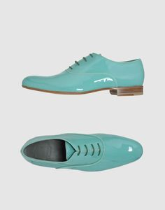Viktor & Rolf Men's Light Green Soft Leather Laced Shoes : love love love those #mensfashion