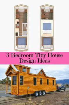 Most Popular 3 Bedroom Tiny House on Wheels Design 1 or 2 Floors Tiny House Design BEDROOM design Floors House Popular Tiny Wheels Tiny House 3 Bedroom, Tiny House Family, Best Tiny House, Tiny House Cabin, Tiny House Living, Tiny House Plans, Tiny House On Wheels, Tiny Bedrooms, Big Family