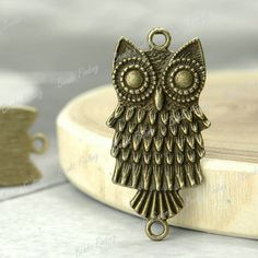 15pcs New Owl Animal Links Fit Necklace Bracelet Vintage Antique Brass TS4246 4   eBay