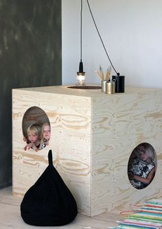 Simple Plywood Cubby by architect Takkunen as part of the Luona In collection | Tinyme Blog