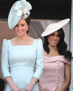 Meghan Markle and Kate Middleton will be stepping out without their husbands [Getty] Kate Middleton, the Duchess of Cambridge, and Meghan M. Meghan Markle Stil, Estilo Meghan Markle, Prince Harry And Megan, Prince William And Catherine, The Duchess, Duchess Of Cambridge, Kate Middleton Stil, Trooping The Colour 2018, Herzogin Von Cambridge