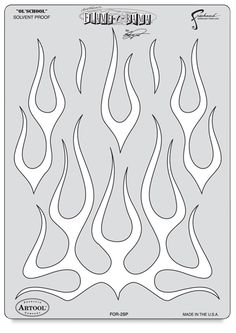 Artool Freehand airbrush templates are an important tool for airbrushers. These patterns, which were designed by Iwata's top artists, provide cutting-edge imagery to give your projects a stylized look. Air Brush Painting, Stencil Painting, Stencil Templates, Stencils, Skull Stencil, Skull Art, Airbrush Supplies, Flame Tattoos, Pinstriping Designs