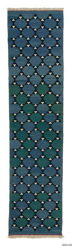 New Turkish kilim runner rug hand-woven with vegetable-dyed and hand-spun wool. If you like the design of this rug, we can custom make it to meet your color and size requirements.