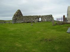 Trumpan Church, Isle of Skye. Scene of a bloody massacre of the McLeods by the McDonalds. 1st time the Fairy Flag was used.