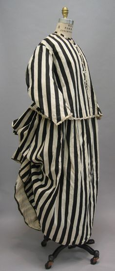 Beachwear | French Date: late 1860s–early 1870s Culture: French Medium: cotton. Sideway