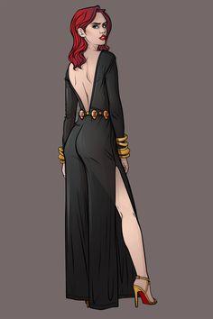 chrispandartMarvel Fashion Serie: Black Widow Femme Fatale Style