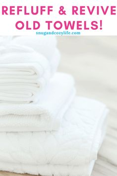 How to keep your towels soft and fluffy. Revive and keep your towels more absorbent with these tips. All Natural, no chemical method!