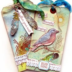 A Bird Sweetly Singing Song Bird Rubber Stamp