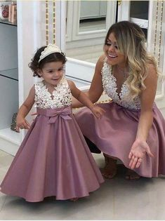 Ideas For Party Dress Birthday Flower Girls Dresses Kids Girl, Cute Dresses, Girl Outfits, Dresses For Children, Fashion Kids, Korean Fashion, Winter Fashion, Mother Daughter Fashion, Dress Anak