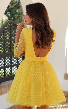 Women Long Sleeve O Neck Mesh Dress 2019 Dots Backless Dress Women''s Short Sexy Dresses Sexy Dresses, Beautiful Dresses, Short Dresses, Fashion Dresses, Dress Long, Mesh Dress, Dress Skirt, Swing Dress, Ladies Dress Design