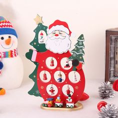 3D Wooden Snowman Reindeer Santa Claus Christmas DIY Table Decoration Xmas Gift | eBay