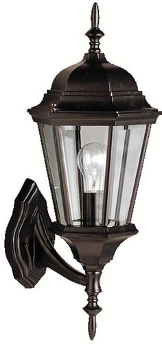 """0-008976>20""""""""h Madison 1-Light Outdoor Black Painted"""
