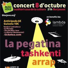 Cartel concert 9 d'Octubre a Burjassot