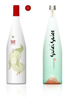 外人ウケしそうなボトル。どこのだろう。。 More beautiful #sake #packaging to share PD