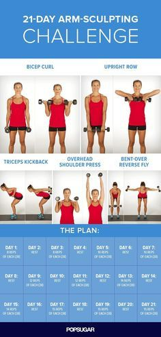 All it takes is this 21-day plan to get the ripped arms you've always wanted. Print this out, tape it on your mirror, and get ready to feel the burn.