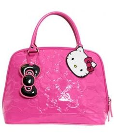 Hello Kitty Patent Leather Pink Monogramed Purse