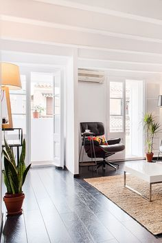 Nordic interior in Barcelona apartment.