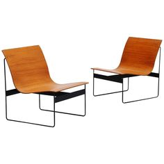 Günter Renkel Lounge Chairs for Rego, Germany, 1959 | From a unique collection of antique and modern lounge chairs at https://www.1stdibs.com/furniture/seating/lounge-chairs/