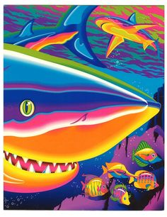Look at these badass Lisa Frank sharks. How come I never saw any Lisa Frank shark merchandise around when I was kid? Why were they keeping this from me? Is it because they knew I would become too powerful if I was exposed to something this amazing?