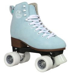 """Roller skates """"Scarlett"""", nubuck leather, for women - All About Quad Roller Skates, Roller Derby, Roller Skating, Skate Wheels, Sport, Hiking Boots, High Top Sneakers, Converse, My Style"""