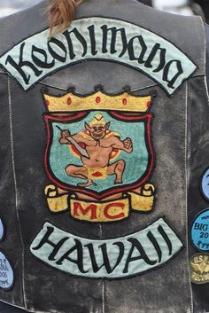 Not alot of room to ride on the islands but still give them respect Biker Clubs, Motorcycle Clubs, Biker Vest, Motorcycle Jacket, Bike Gang, Biker Patches, Riding Gear, Nose Art, Rockers