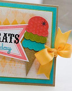 Love the ice cream cone and colors!