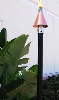 absolute outdoor living big kahuna copper cone propane natural gas tiki torch permanent