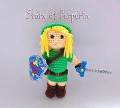 Link de Zelda  Leyenda de Zelda  Espada Maestra Escudo Nintendo, Friends With Benefits, Stuffed Animals, Video Games, Etsy Seller, Crochet Hats, Free, Link, Master Sword