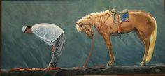 Rükû, oil on canvas / tuval üzeri yağlı boya, 80 cm X 40 cm, artist: Hurşit İlbeyi. Mayıs 2015