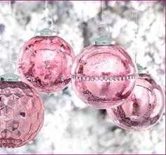 Pink Christmas Ornaments Holidays Southern Beach Coastal Merry