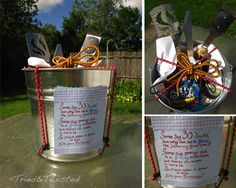 Manly Gift Bucket: a new kind of gift basket   Tried & Twisted