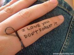 Pssstttt... I love you. Don't forget it.