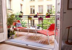 Installez un petit salon cosy sur votre balcon
