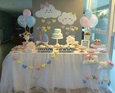 Baby Shower Decorations 345299496430286241 - Baby Shower Ides Decoracion Nubes Ideas For 2019 Source by lizzyvaley Cloud Baby Shower Theme, Idee Baby Shower, Fiesta Baby Shower, Shower Bebe, Girl Shower, Baby Shower Favors, Baby Shower Parties, Shower Party, Baby Showers