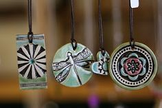 ceramic pendants #bohemian