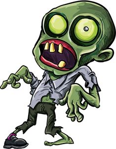 Zombie Cartoon Drawings   Twisted cartoon zombie Art Print